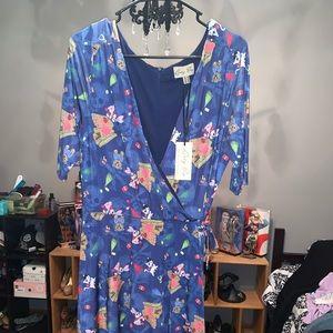 NWT LINDY BOP WRAP DRESS